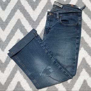 Express | Vintage Low Rise Flare Crop Jeans